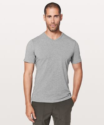 5 year 베이직 V, HEATHERED CORE MEDIUM GREY
