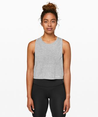 [Barry's Bootcamp x lululemon] 스트롱거 애즈 원 머슬 탱크, HEATHERED BLACK