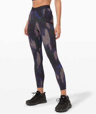 [lululemon x Robert Geller] 테이크 더 모먼트 타이츠, WASHED CAMO SMALL DARK INDIGO MULTI
